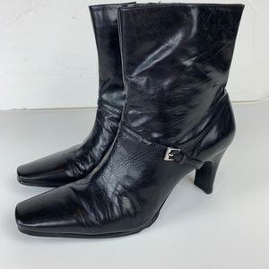 "Nine West Women's ""Melia"" Black Leather Boot 7M"